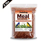 TradeKing 100% Natural Dried Mealworms - High Protein Treat for Wild Birds, Chickens, Fish, Reptiles - (1, 2, 5 Pound Resealable Bulk Bag)
