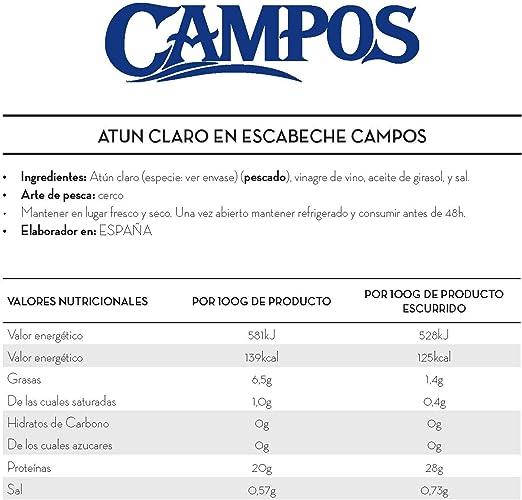 Campos Conserva de Atún Claro en Escabeche Tradicional - 1900 g