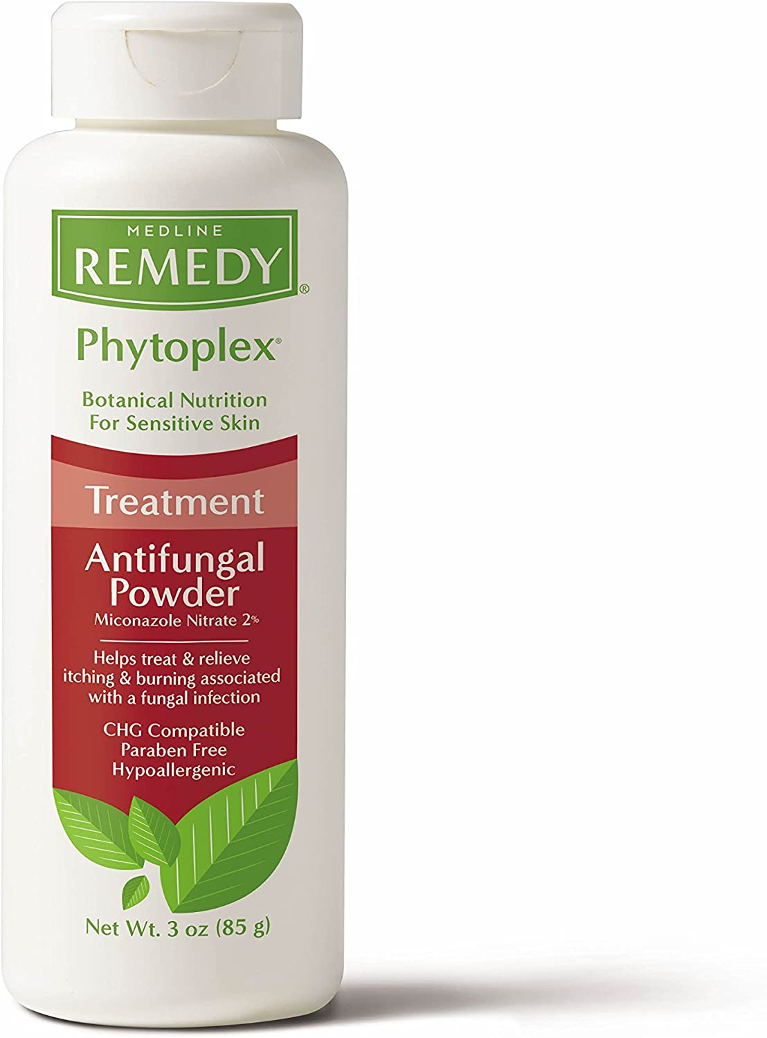 Remedy Phytoplex Antifungal Powder with 2% Miconazole Nitrate for Common Fungal Infections incuding Athlete's Foot, Talc Free, 3 oz