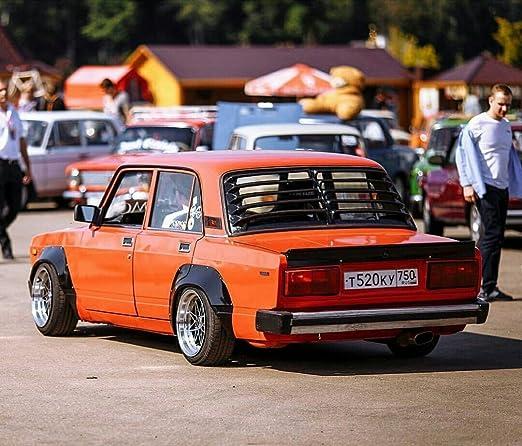 risingtuning - trasero ventana rejillas Lada Riva Nova 2101 - 07 Tuning grille-deflector Fiat 124: Amazon.es: Coche y moto