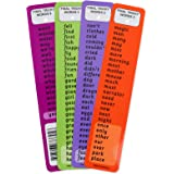 Common Words Laminated Bookmarks - KS1 and KS2 High Frequency Words Cards- Colorful and Fun Design- Educational Helper for Kids and Parents- Ideal for Dyslexia, ADHD Phases 2,3,4