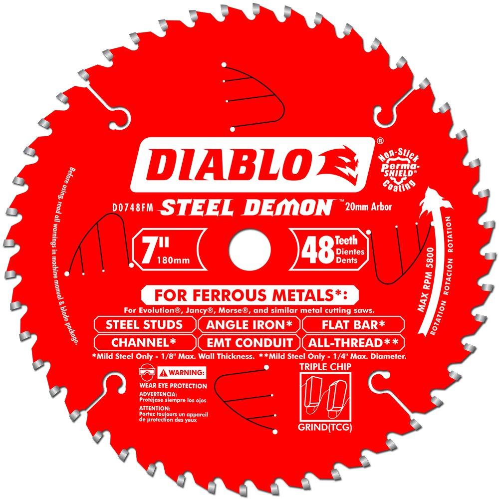 Disco Sierra Diablo Por Freud D0748fm Ø180 48d E20 Metal