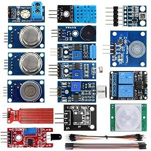 KOOKYE 16 in 1 Smart Home Sensor Modules Kit for Arduino Raspberry Pi DIY Professional