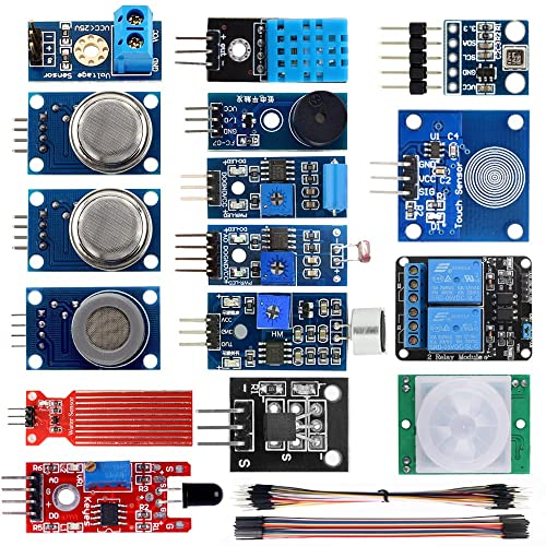KOOKYE 16 in 1 Smart Home Sensor Modules Kit for Arduino Raspberry Pi DIY Professional (