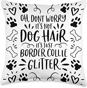Dog Lover Home Decor & Dog Mom Gifts & Accessoires Gift Border Collie Home Decor Dog Mom Throw Pillow, 16x16, Multicolor