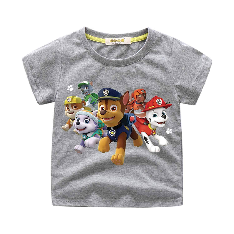 PCLOUD Cute Dog Toddler Children Printing Short Sleeve T-Shirt