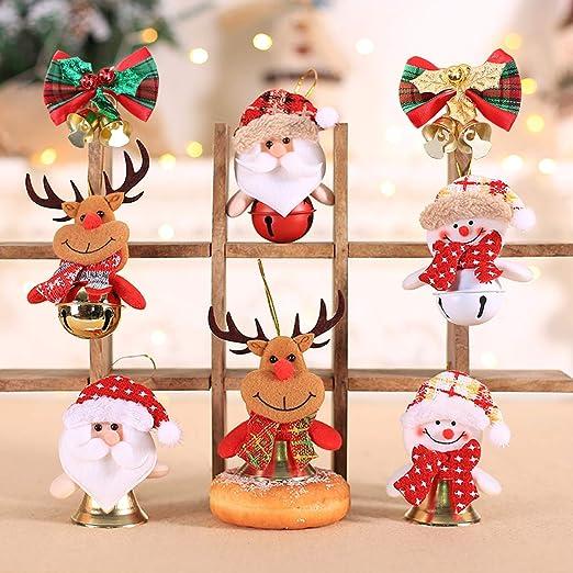 2pcs Non-Woven Christmas Bell Pendants Xmas Hanging Ornament Home New Year Decor