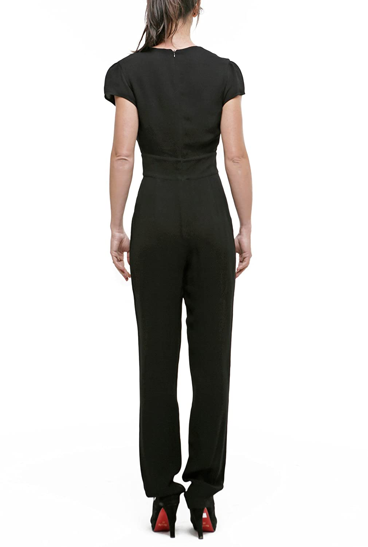 9ad9b2cd7e69 Amazon.com  ARMANI JEANS Women s Short Sleeve Tube Insert Jumpsuit ...