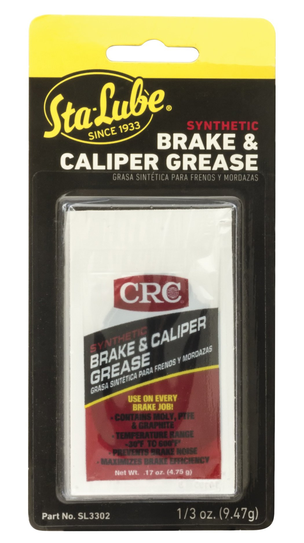 CRC SL3302 Synthetic Brake & Caliper Grease - 5 cc by CRC