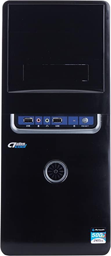 Acteck 500W ATX Midi-Tower Negro - Caja de Ordenador (Midi-Tower, PC, Negro, ATX,Micro ATX, Poder, Si, 500 W): Amazon.es: Informática