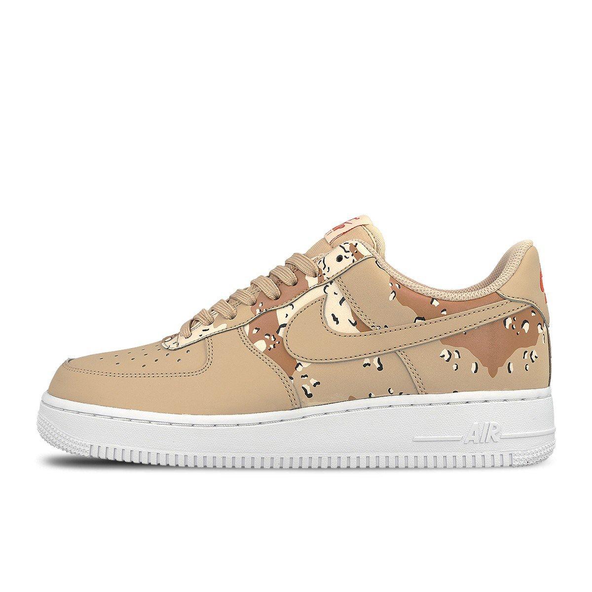 Nike Mens Air Force 1 '07 Low Camo Shoes Bio Beige/Orange Quartz/Terra Orange 823511-202 Size 10.5