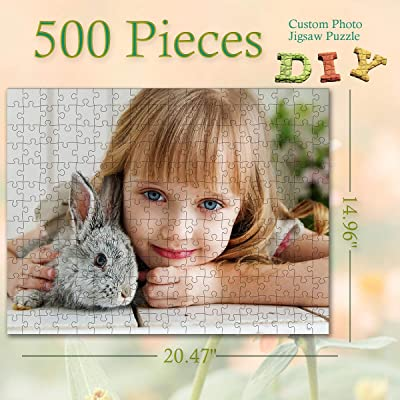 Custom Photo Jigsaw Puzzle for Adults and Children 500 Pieces DIY Gift, Personalized Art Photo Funny Gifts Custom Puzzles from Photos for Kids Mother's Day Stay at Home Wedding Gifts Family Love: Toys & Games