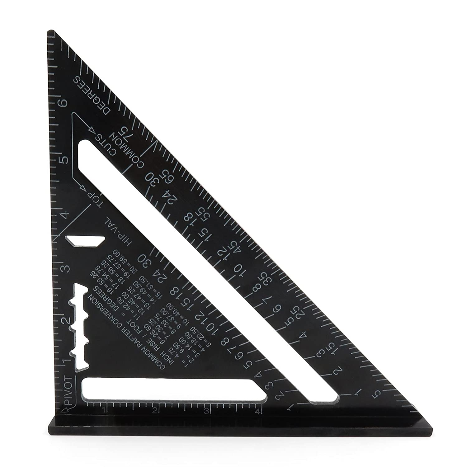 iXium 7' Imperial Aluminium Speed Square Heavy Duty 90 Degree Angle Measuring Triangle Tool Roofing Joinery Cut Guide - Black