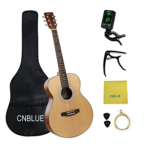 Estudiante guitarra acústica Cuerdas de acero de 40 pulgadas Full ...