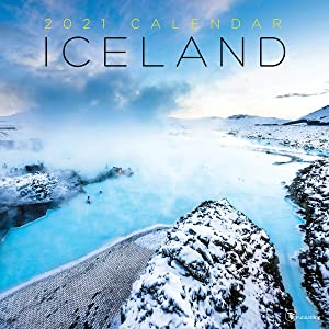 """TF PUBLISHING 2021 Iceland Monthly Wall Calendar - Photographs - Planner with Contacts and Notes Space - Enhance Home or Office Planning and Organization - Premium Gloss Paper 12""""x12"""""""