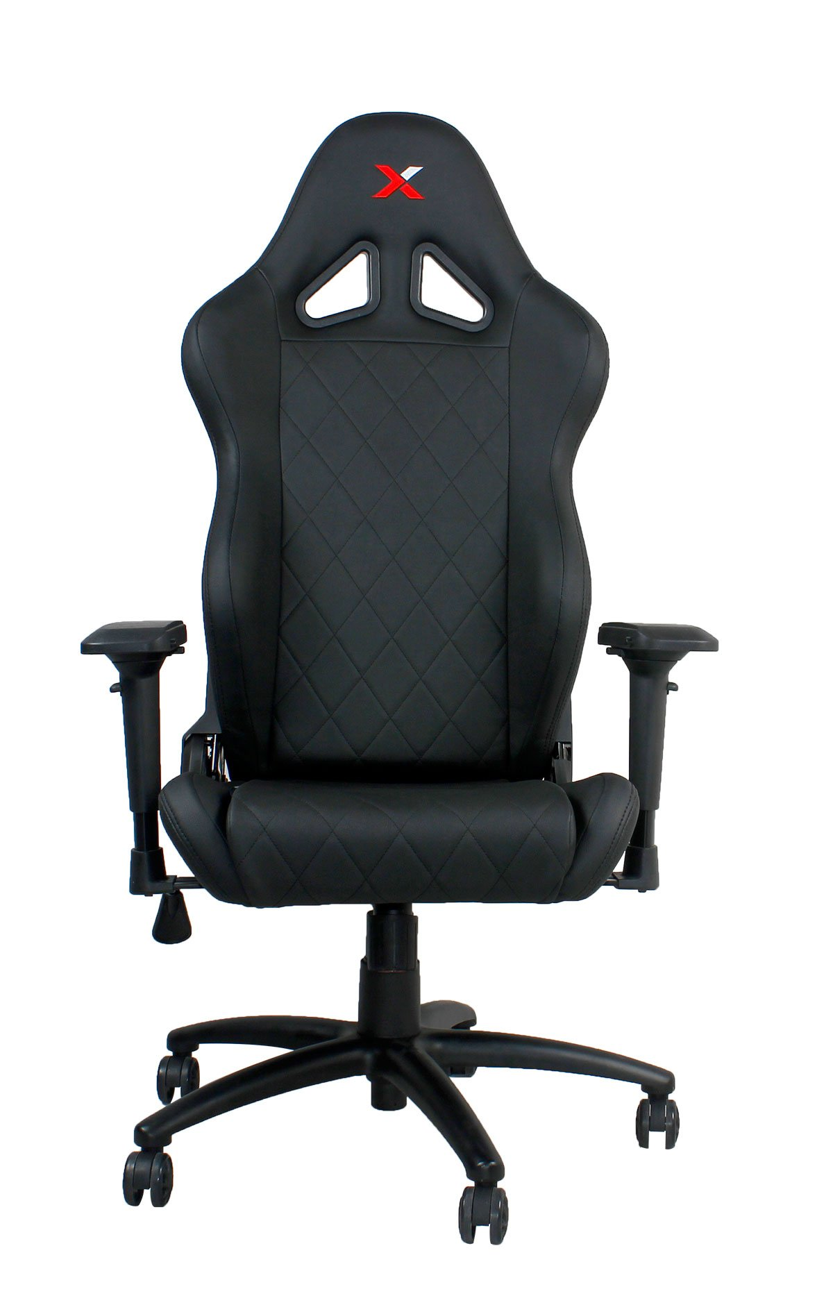 Ferrino Line Black on Black Diamond Patterned Gaming and Lifestyle Chair by RapidX