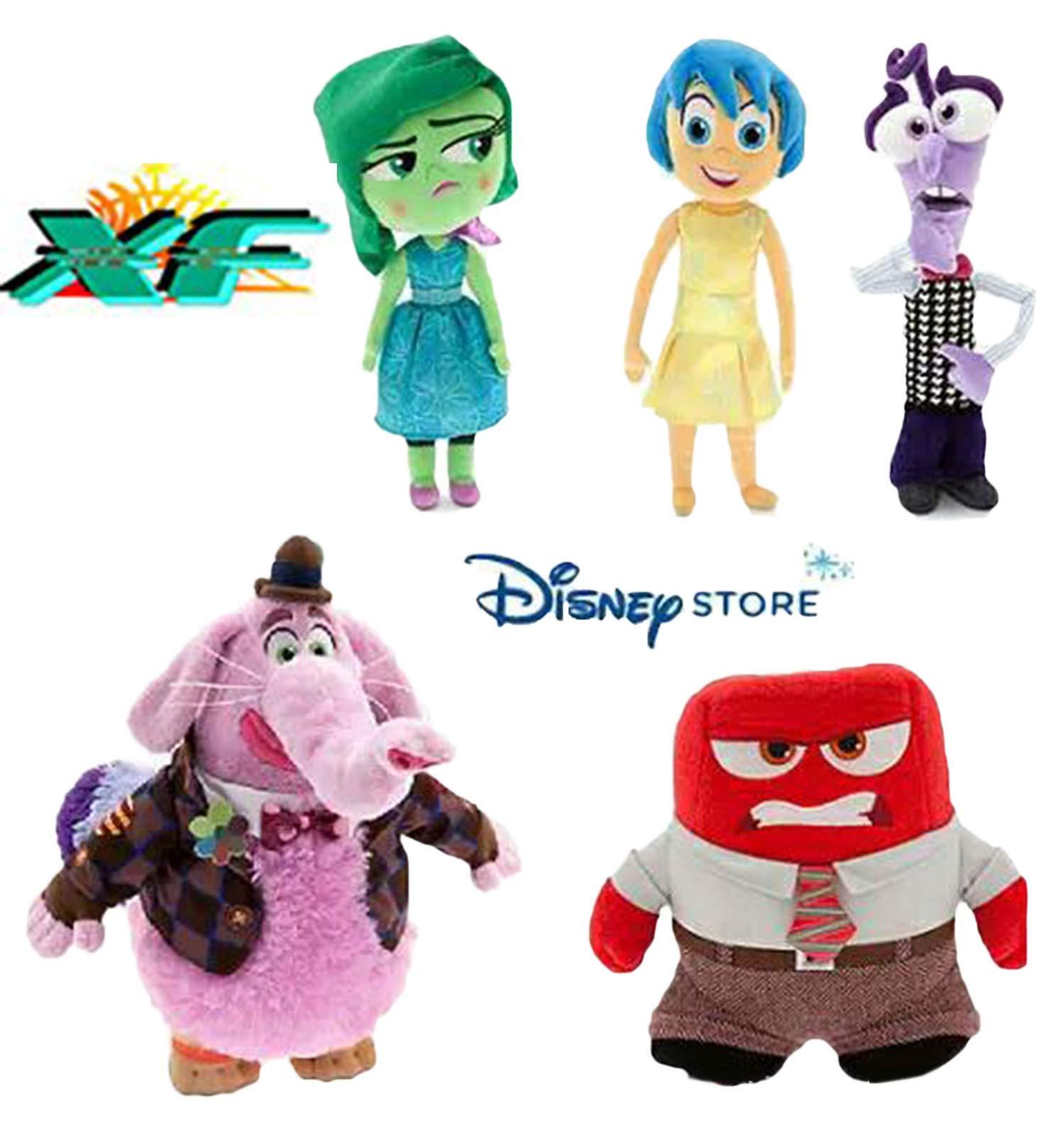 TalentPZ® Vividlike eco-Friendly Halloween Christmas Birthday Gift Children Kids 5 Pieces Inside Out Stuffed Puppet Dolls Plush Toys Set 5 Small (Height:13-23cm / 5.12-7.88'')