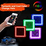 PROAUTO LED Work Light with RGB Halo and Remote for