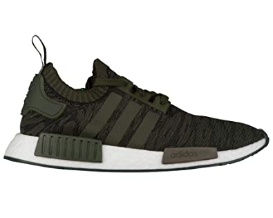 cb8b8562dca64 Amazon.com | adidas NMD R1 Primeknit Men's Mens Cq2445 Green | Trail ...