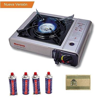 Envio 24h Butsir Cocina Portatil Para Cartucho válvula B250 + 4 Cartucho