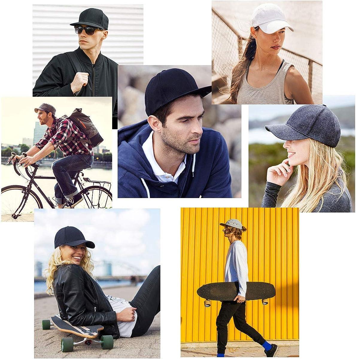 Sun Messy High Bun Cap Adjustable Pony Caps Mesh Cap Classic Plain Hat Black+White Ponytail Baseball Cap Sports Casual Trucker Hats Cap for Mens Women