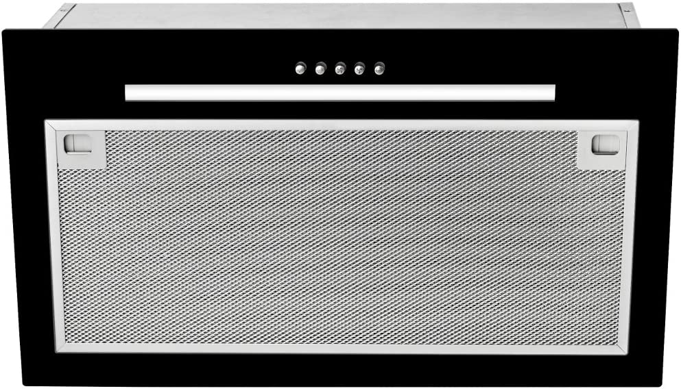 Teka GFG 2 - Campana (Canalizado, 388 m³/h, 51 Db, Montado en pared, LED, Negro)
