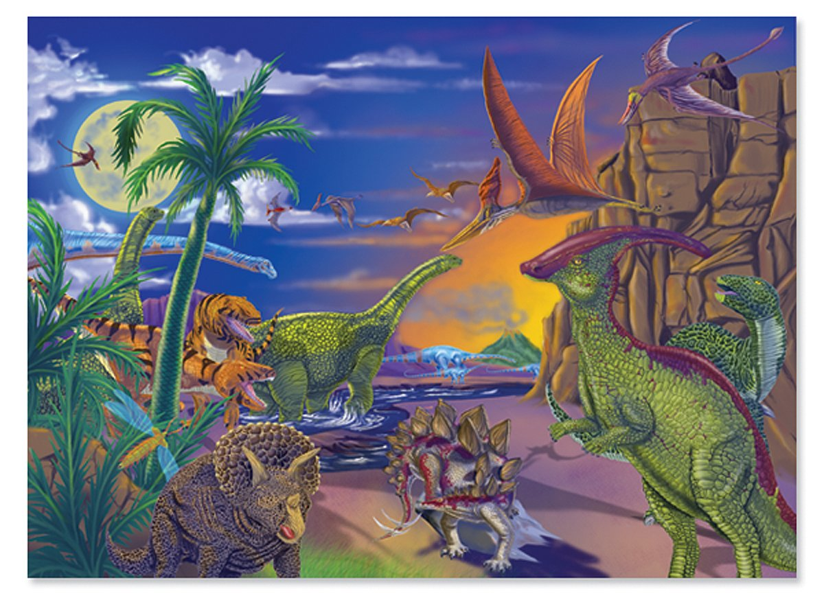 Deals on Melissa & Doug 60 Piece Land of Dinosaurs Jigsaw Puzzle