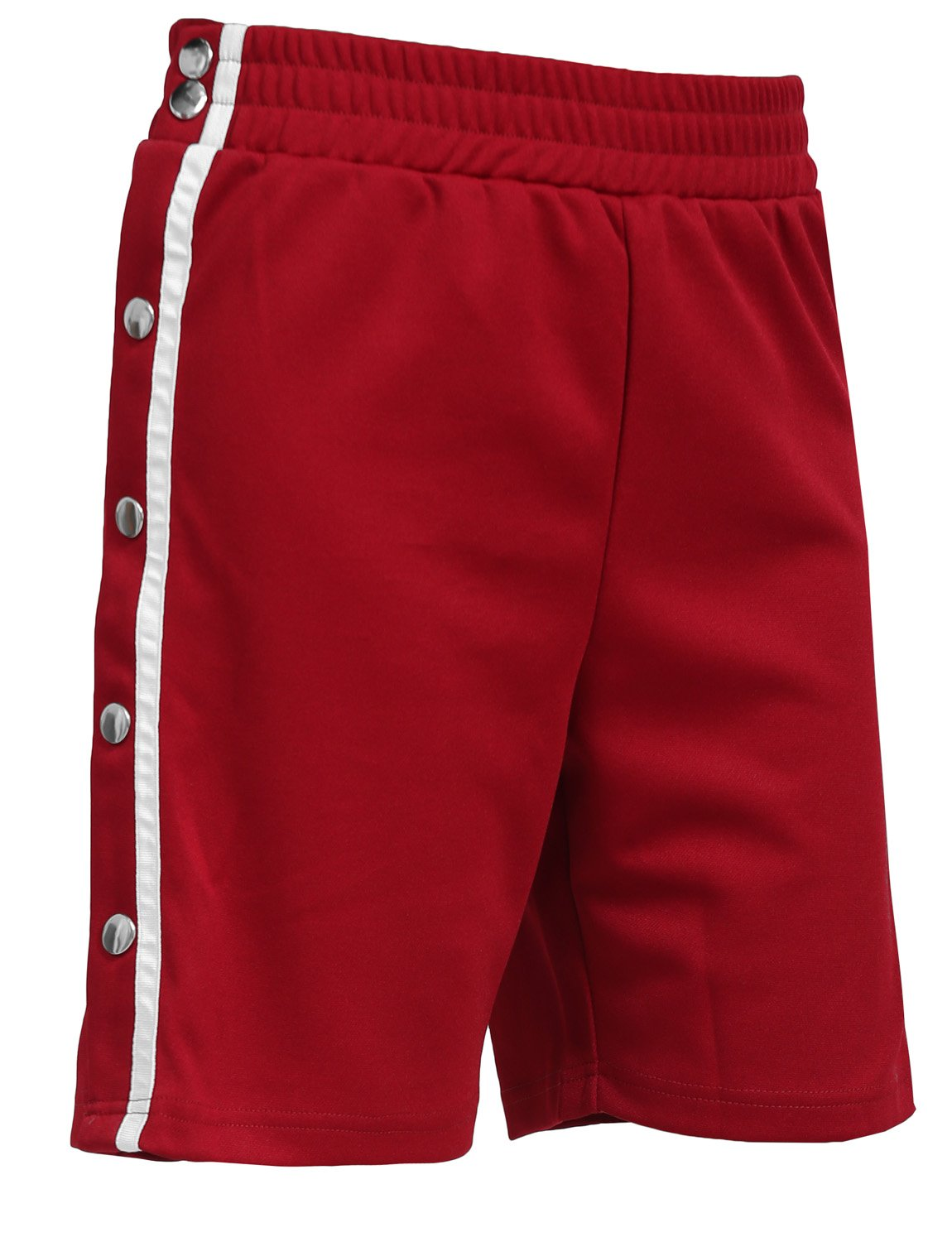NE PEOPLE Womens Casual Elastic Side Snap Button on Track Shorts Wide Leg Pants