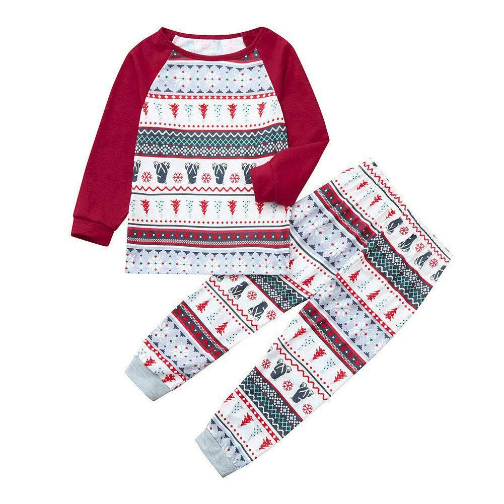 Manica Lunga Natalizio Pigiami Costume di Natale Indumenti da Notte Abbigliamento Sleepwear Xingsiyue Famiglia Pigiama Natale Set