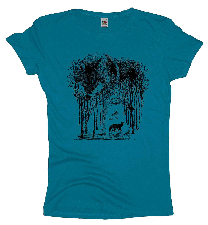 Ma2ca Wolf Forrest Damen T-Shirt |Rettet Die Wölfe Shirt: Amazon.de:  Bekleidung