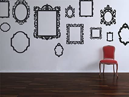 Antique Style Picture Frame Stickers Removable Vintage Decorative Vinyl  Decals for Home Decor Wall Art ( - Amazon.com: Antique Style Picture Frame Stickers Removable Vintage