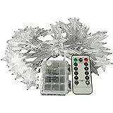 kingleder 25ft 50 LED Xmas Star Light Fairy String Light w/ Remote for Christmas Weddings Family Festival Party (Warm White)