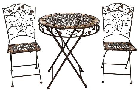 Tavoli E Sedie In Ferro Battuto.Tavolo Da Giardino E 2 Sedie In Ferro Battuto In Ferro In Stile