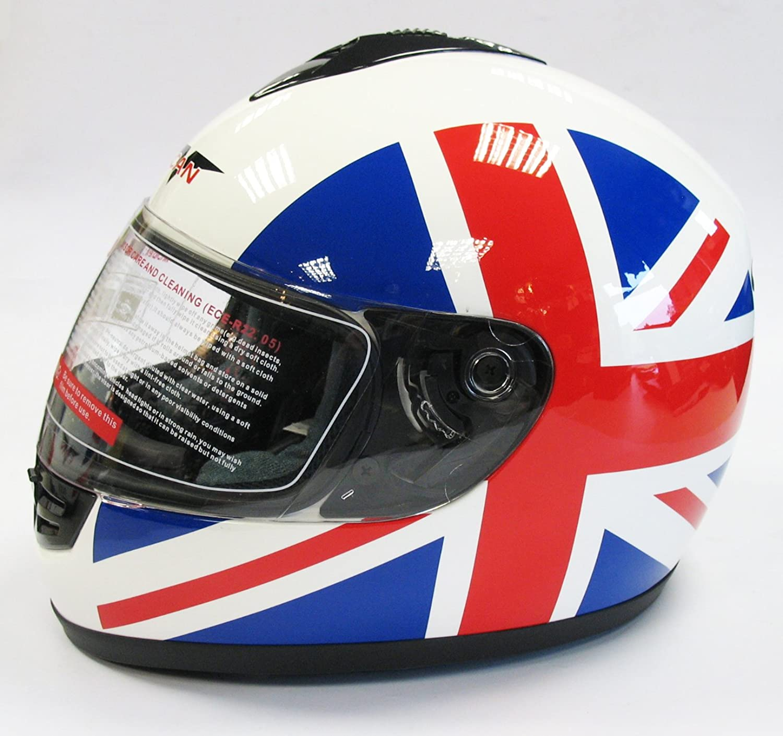 v can v190 britain british flag motorcycle motorbike helmet extra