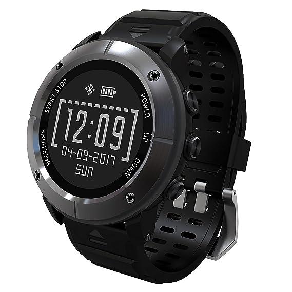 UW80 Smart Watch GPS Positioning Heart Rate Monitor Navigation Altimeter Air Temperature Pedometer IP68 waterproof Caller