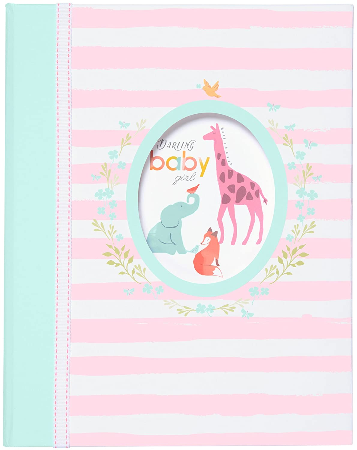Carter's'Darling Baby Girl' Slim Bound Photo Journal Album for Baby and Newborn Girls, 9' W x 8.875' H, 80 Pages 9 W x 8.875 H C.R. Gibson - Baby BP1-18283