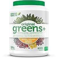 Genuine Health Greens+ Original, Green Superfood Powder, Non GMO, Natural Tangerine, 566g, 60 Servings