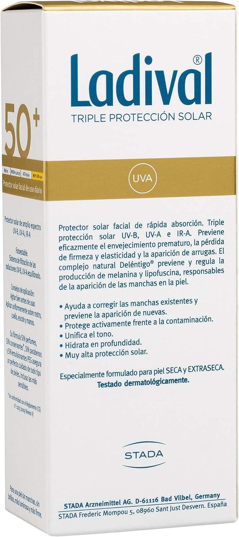 Ladival Protector Solar Facial Anti Manchas - FPS 50+, 50 ml: Amazon.es: Belleza