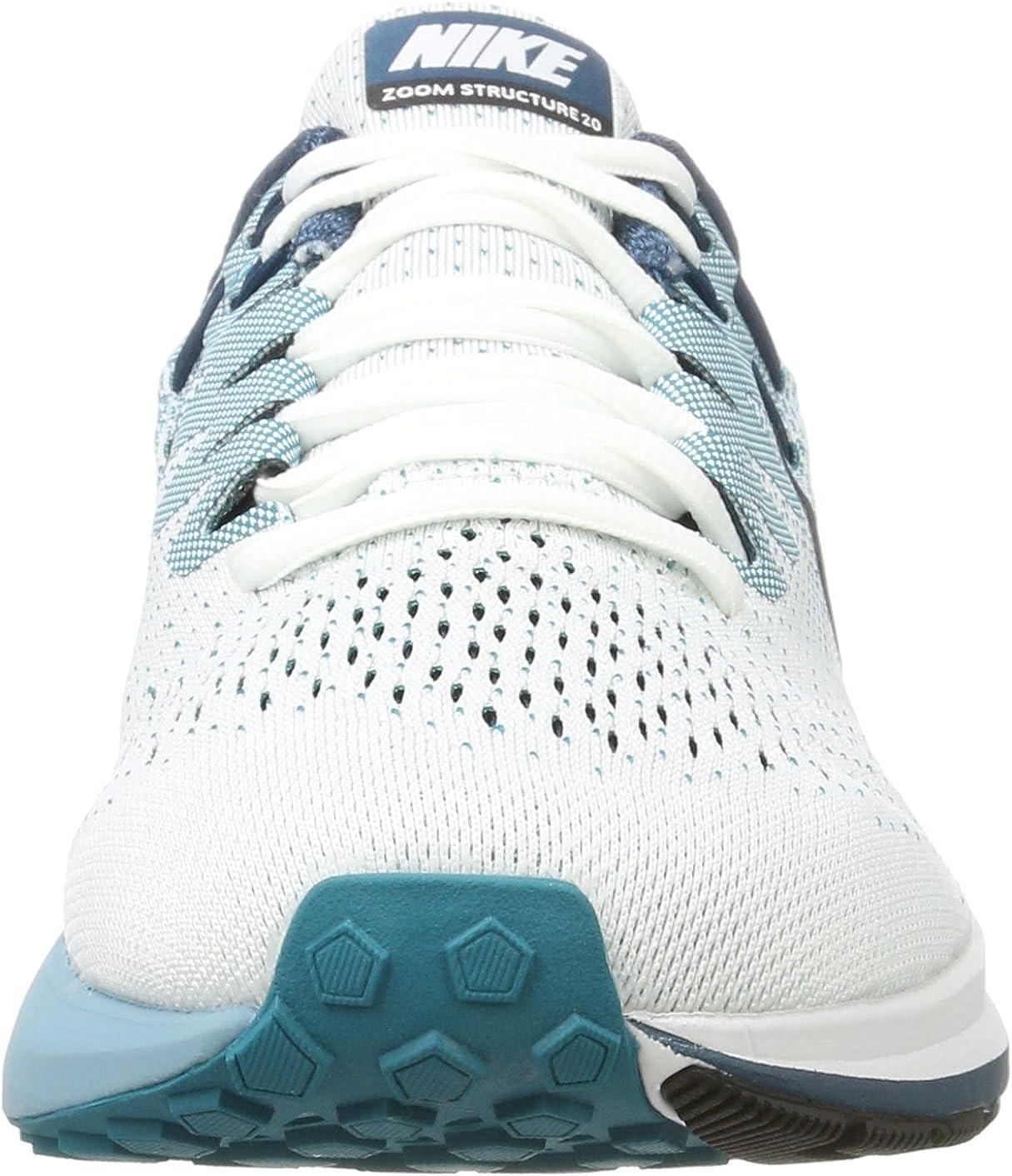 Nike Air Zoom Structure 20, Zapatillas de Running para Hombre, Multicolor (White/Black-Blustery-Space Blue), 45.5 EU: Amazon.es: Zapatos y complementos