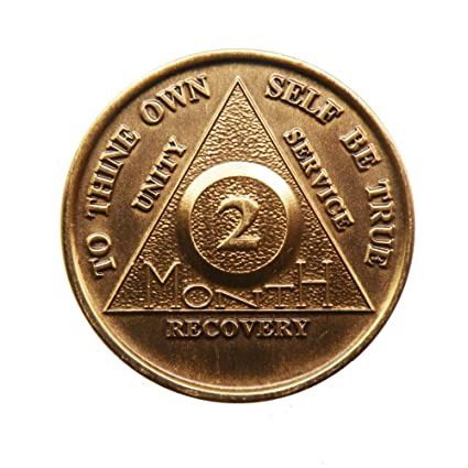 Alcoholics Anonymous 9 Month AA  Bronze Medallion Token Coin Chip Sobriety Sober Kolekcje