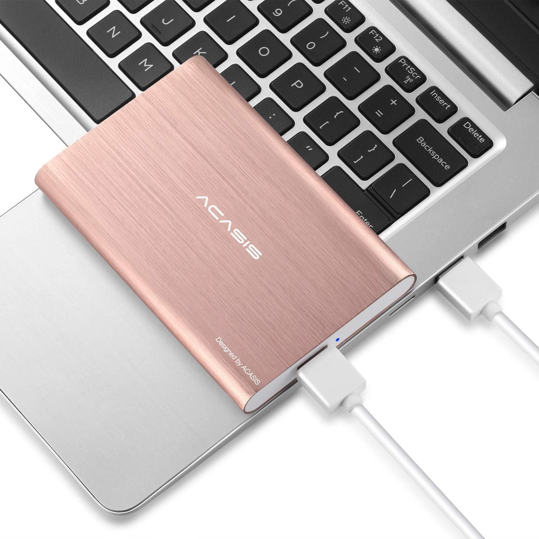 "HDD 2.5"" 120GB Portable External Hard Drive USB3.0 Hard Disk Storage Devices Desktop Laptop (Gold)"
