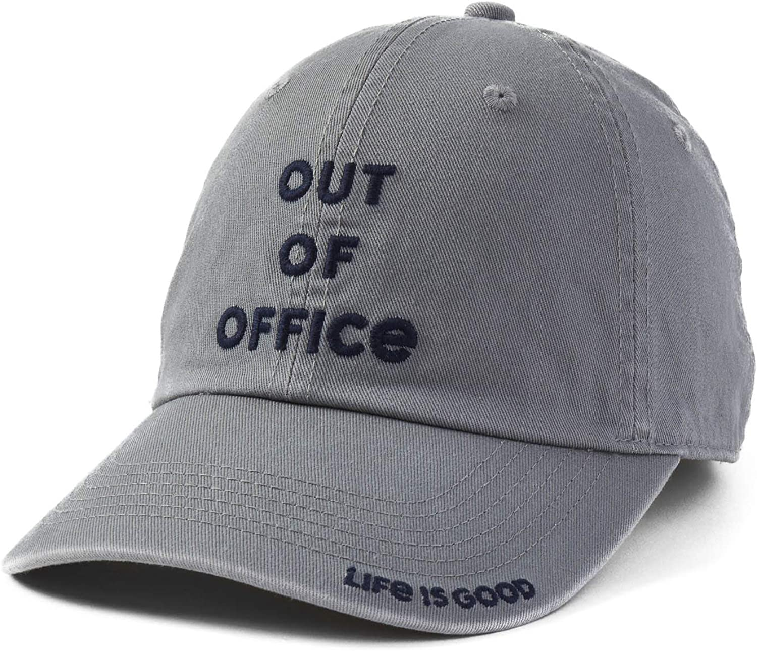 Life is Good Unisex-Adult Chill Cap Embroidered Brim Baseball Hat
