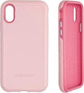 cellhelmet Fortitude Series Pink Magnolia Dual Layer Phone Case for Apple iPhone Xs/X | As Seen on Shark Tank | in Retail Package