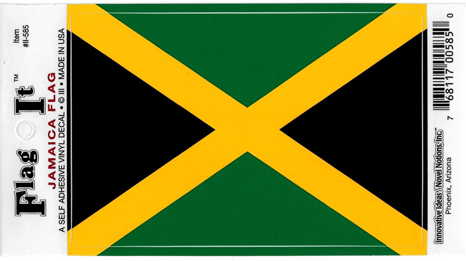 Amazon com jamaica flag decal for auto truck or boat automotive