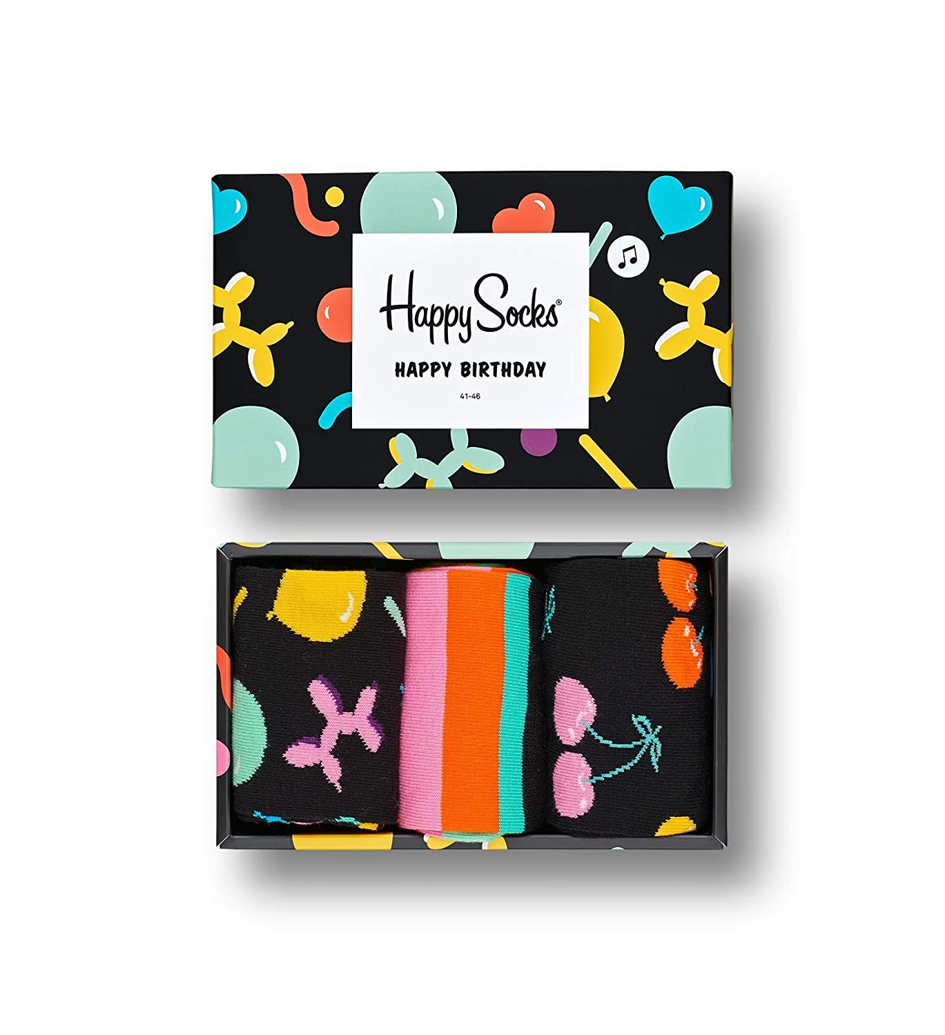 Amazon.com: Happy Socks - Assorted Colorful Premium Cotton Sock Gift Box for Men and Women: Clothing