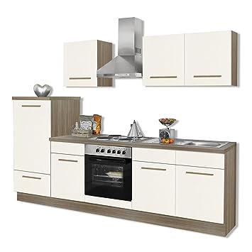 Perfekt ROLLER Küchenblock WIEBKE   Magnolie   Inklusive E Geräte