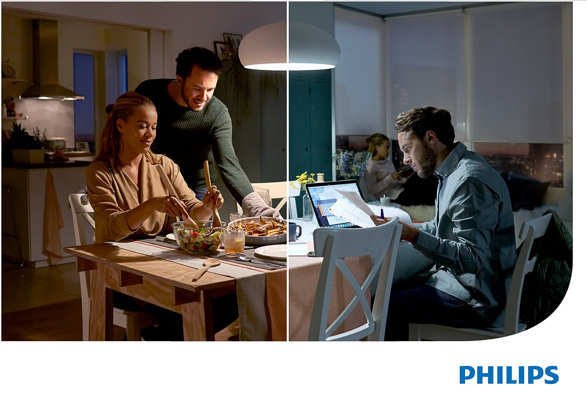 Einfache Dekoration Und Mobel Sceneswitch Von Philips #21: Philips 2-in-1 LED Lampe SceneSwitch Ersetzt 60W, EEK A+, E27 Standardform,  Dimmen Ohne Dimmer: Amazon.de: Beleuchtung