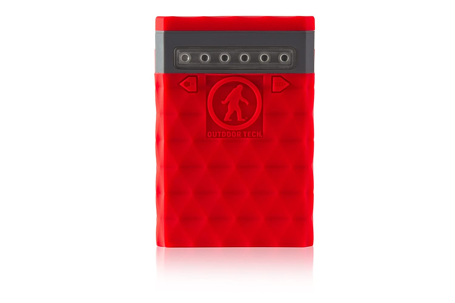 Outdoor Tech OT2650 Kodiak Plus 2.0 - 10, 000 mAh 2.4 AMP Ruggedized Waterproof Portable Charger/External Battery (Red) Outdoor Tech - CA OT2650-R