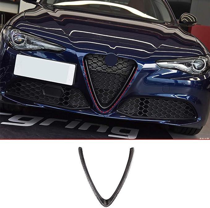 Yiwang 2019 in fibra di carbonio cornice decorativa per griglia anteriore in plastica ABS non applicabile per Stelvio 2018 per Giulia 2017 parti