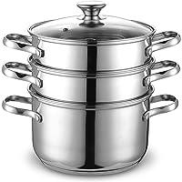 Cook N Home 4QT Double Boiler & Steamer Set